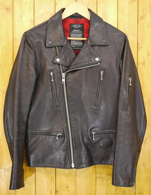 【中古】UNUSED/アンユーズド シープスキン レザージャケット ダブルライダース サイズ:3 カラー:ブラック