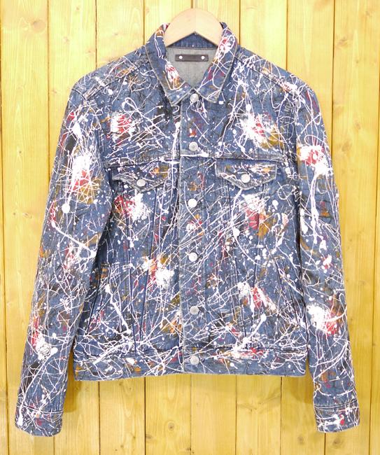 【中古】MINEDENIM/マインデニム 2018SS Denim PLK Paint G JKT ペイント加工デニムジャケット サイズ:3 カラー:ブルー【f096】