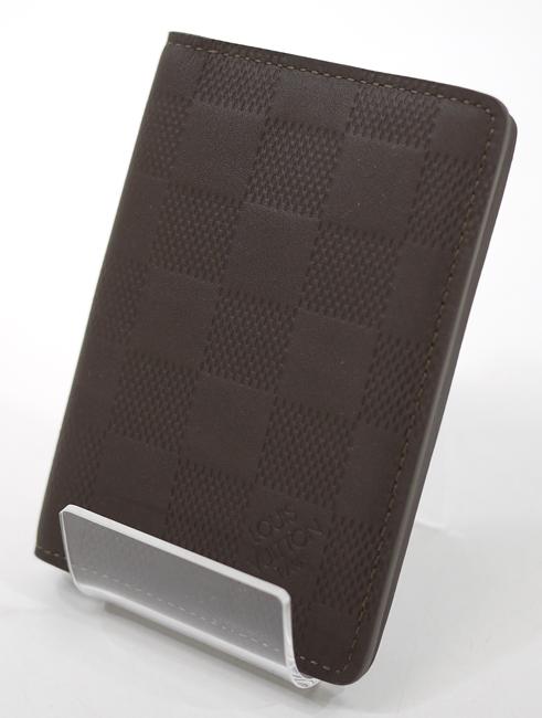 【中古】LOUIS VUITTON/ルイ・ヴィトン N62233/SP0194 ダミエアンフィニ(バサルト) オーガナイザードゥポッシュ カードケース【f125】