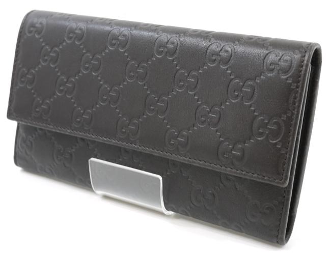 【中古】GUCCI/グッチ 257303 グッチシマ 三つ折長財布【f125】