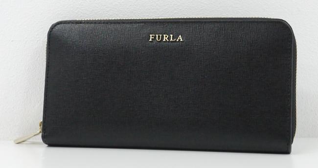 【中古】FURLA/フルラ PR82 バビロン ラウンドファスナー長財布【f125】