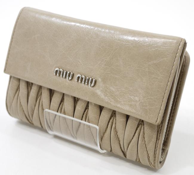 【中古】MIU MIU/ミュウミュウ 5ML225 マテラッセ 三つ折り財布【f125】