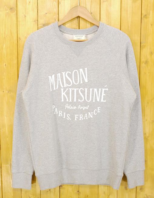 【中古】MAISON KITSUNE/メゾンキツネ 16SS PALAIS ROYAL CREW SWEAT/パレロワイヤル スウェット サイズ:M カラー:グレー【f108】
