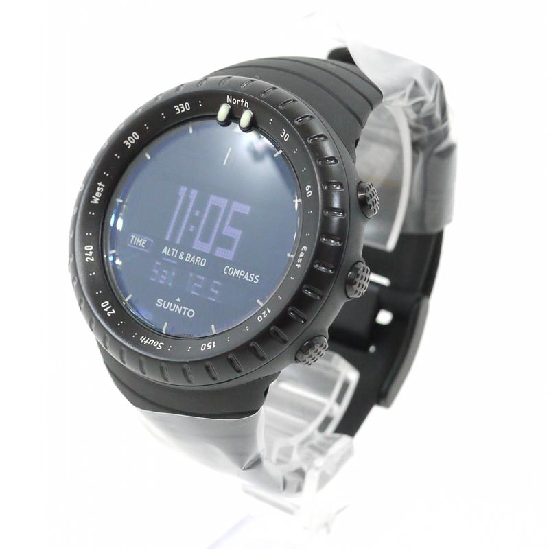 【中古】SUUNTO/スント 腕時計 CORE ALL BLACK/コアオールブラック SS014279010 ブラック×ブラック クォーツ 樹脂バンド【f131】