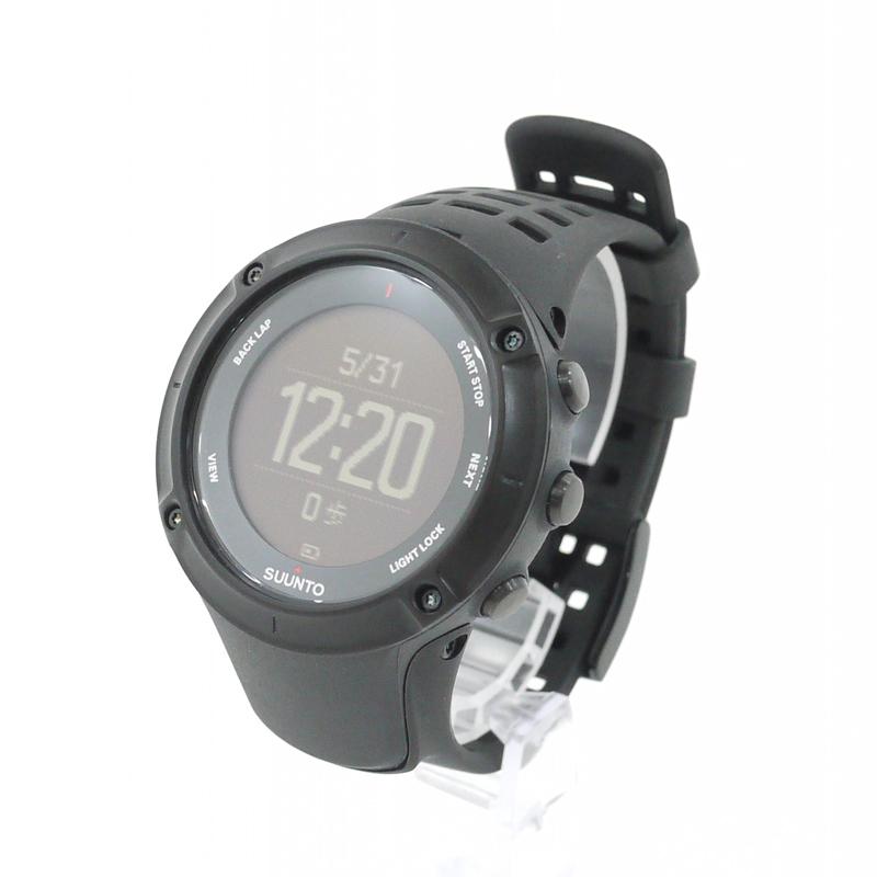 【中古】SUUNTO/スント 腕時計 AMBIT3 PEAK BLACK アンビット3ピークブラック SS020677000 ブラック×ブラック クォーツ その他ベルト【f131】