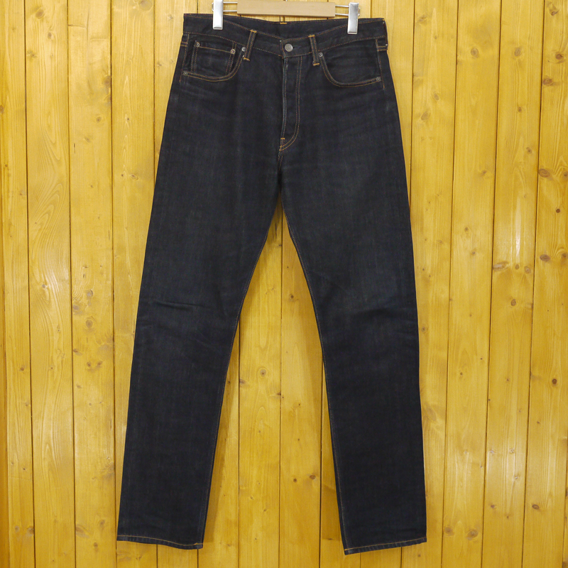 【中古】lucien pellat-finet/ルシアン ペラフィネ ボタンフライデニムパンツ サイズ:31 カラー:ブルー【f107】