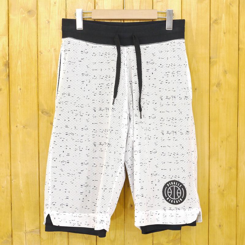 【中古】NIKE×PIGALLE/ナイキ×ピガール Reversible Shorts リバーシブルショーツ ショートパンツ 707976-100 サイズ:S カラー:ブラック×ホワイト【f107】