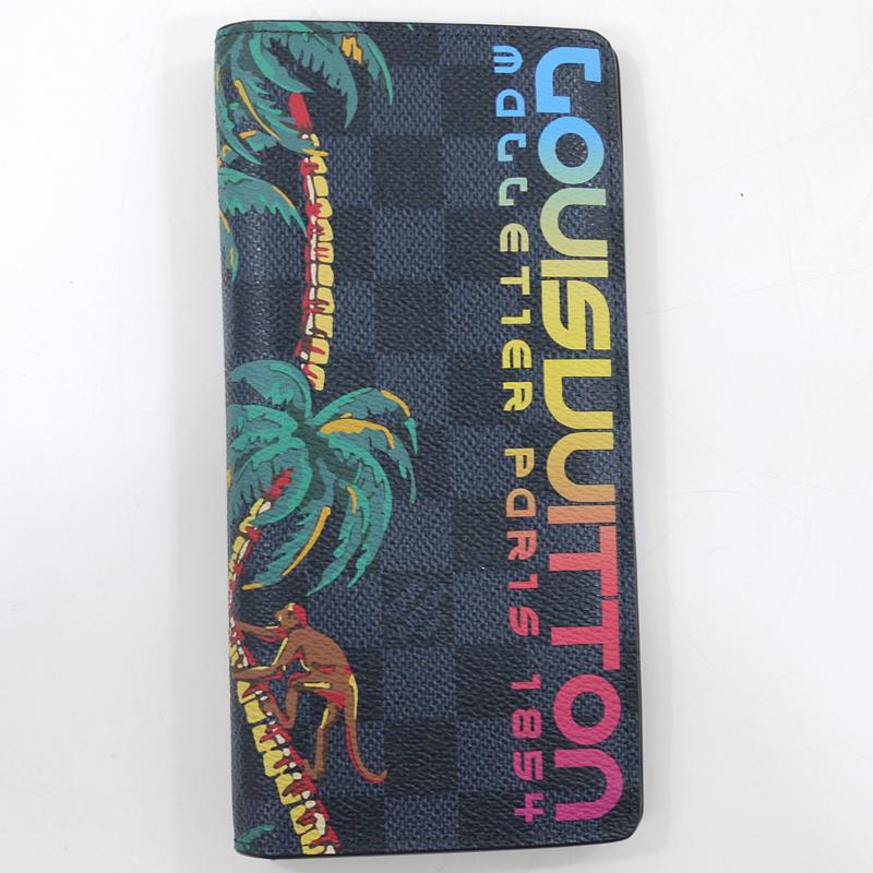 【中古】LOUIS VUITTON/ルイ・ヴィトン N63509/CA0178 ダミエコバルト ポルトフォイユブラザ 二つ折り長財布【f122】