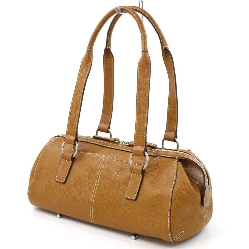 【中古】土屋鞄製作所 レザーショルダーバッグ カラー:ブラウン【f121】