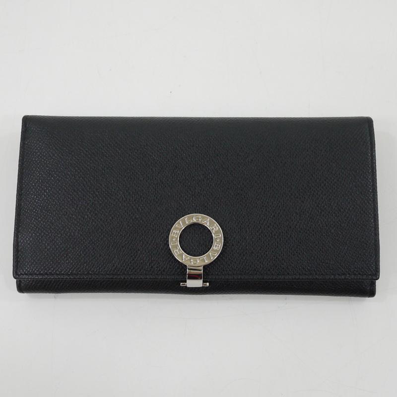 【中古】BVLGARI/ブルガリ 30412 ブルガリブルガリ ロゴクリップウォレット二つ折り長財布 【f125】