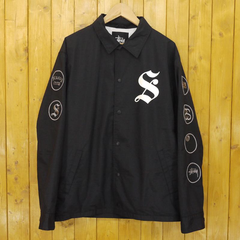 【中古】STUSSY/ステューシー コーチジャケット サイズ:XL カラー:ブラック【f095】