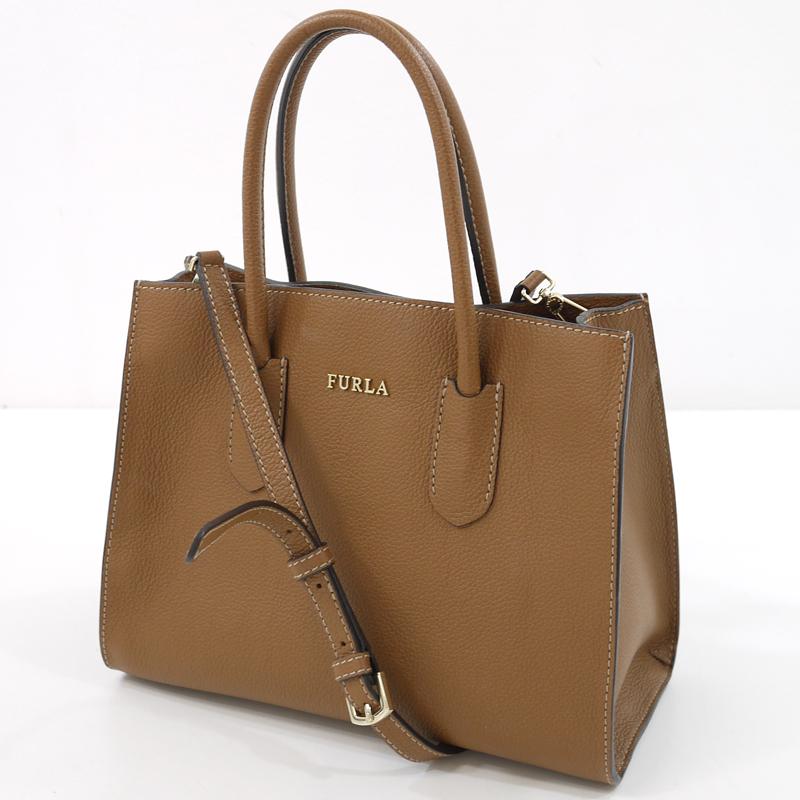 【中古】FURLA/フルラ 2wayバッグ ハンドバッグ/ショルダーバッグ サイズ:- カラー:ブラウン【f122】