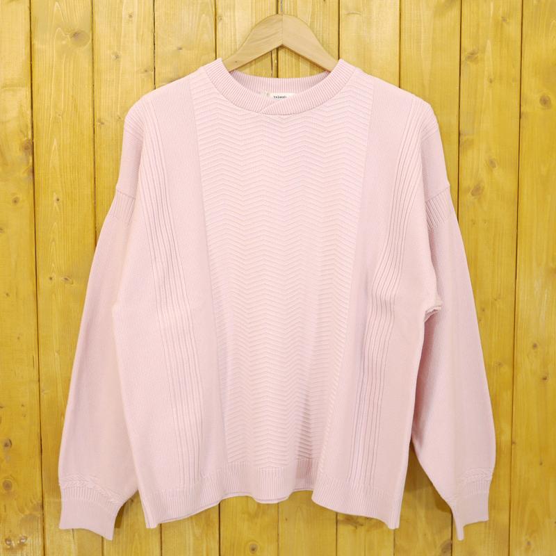 【中古】YASHIKI/ヤシキ 18SS Samon Knit 砂紋ニット サイズ:1 カラー:ピンク【f104】
