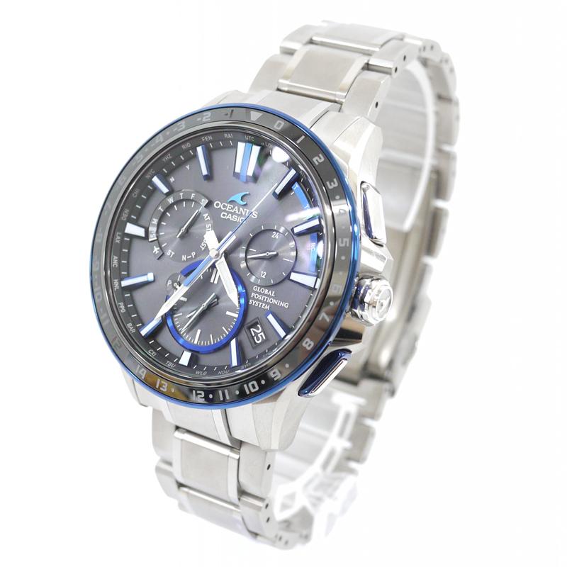 【中古】CASIO/カシオ 腕時計 OCEANUS/オシアナス OCW-G1200-1AJF GPSハイブリッド電波ソーラー チタンベルト カラー:ブラック×シルバー【f131】