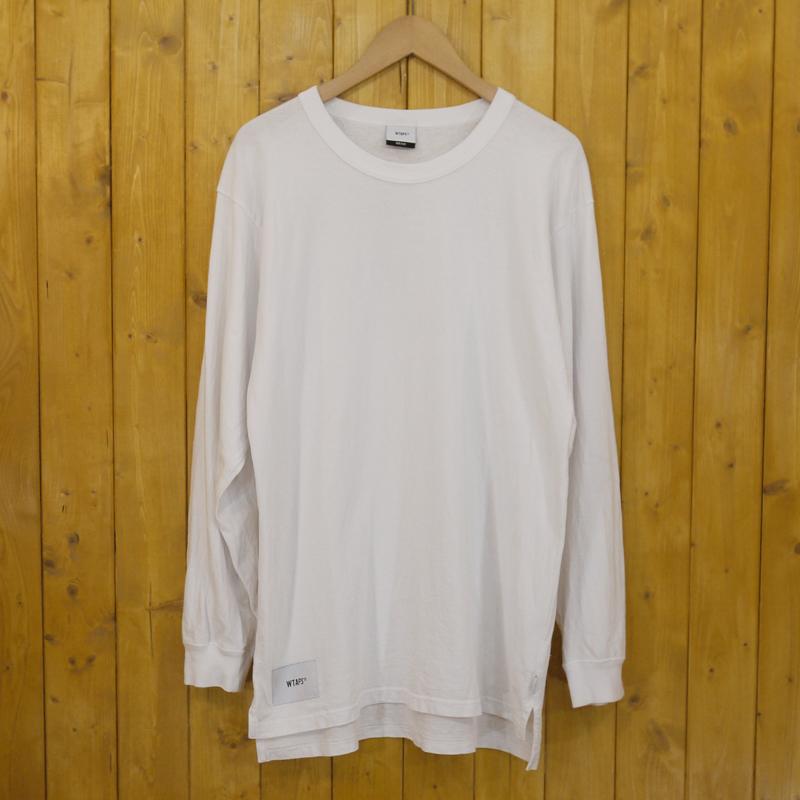 【中古】WTAPS/ダブルタップス DESIGN LS SPEC/TEE 長袖Tシャツ サイズ:x01 カラー:ホワイト【f103】