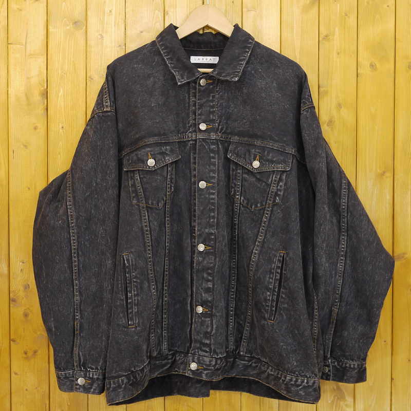 【中古】LABRAT/ラブラット ビッグデニムジャケット サイズ:F カラー:ブラック【f096】