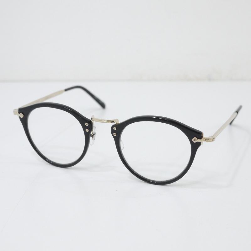 【中古】OLIVER PEOPLES/オリバーピープルズ Limited Edition 雅 伊達メガネ サイズ:- カラー:ブラック×ゴールド【f134】