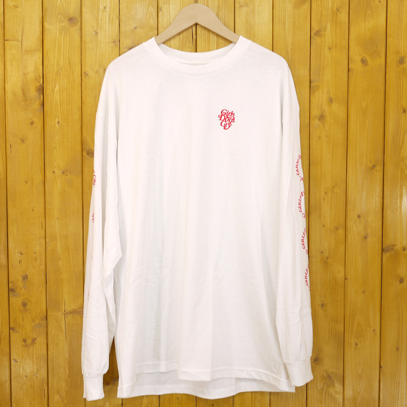 【中古】Girls Don't Cry/ガールズドントクライ 長袖Tシャツ サイズ:XL カラー:ホワイト【f103】