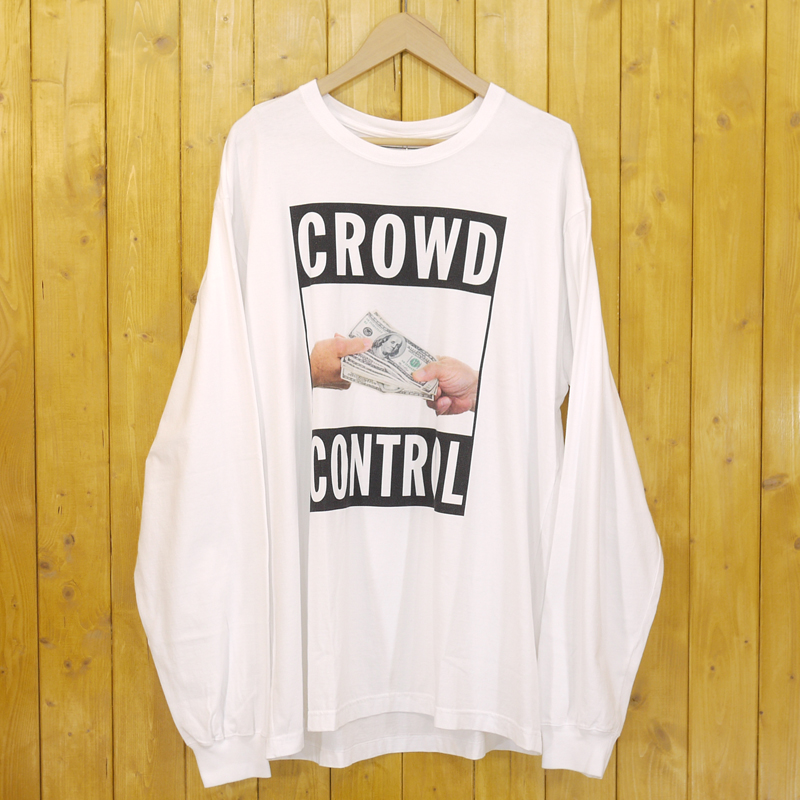 【中古】NEIGHBOR HOOD×Cali Thornhill Dewitt/ネイバーフッド×カリ・ソーンヒル・デウィット CTDNH-1/C-TEE.LS 長袖Tシャツ サイズ:XL カラー:ホワイト【f103】