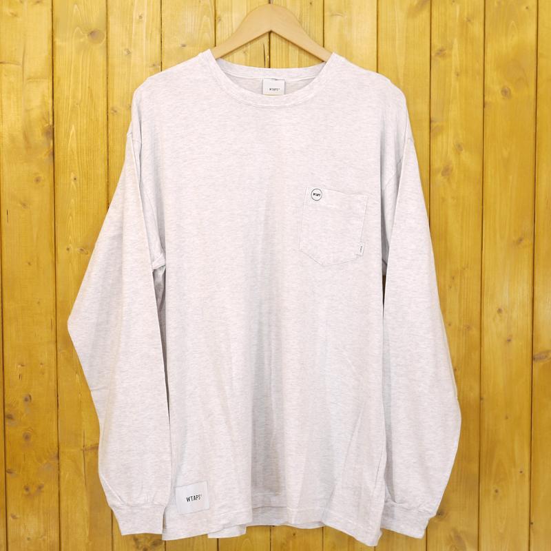 【中古】WTAPS/ダブルタップス BLANK LS 01 / TEE. COTTON 長袖Tシャツ 18AW サイズ:X03 カラー:グレー【f103】