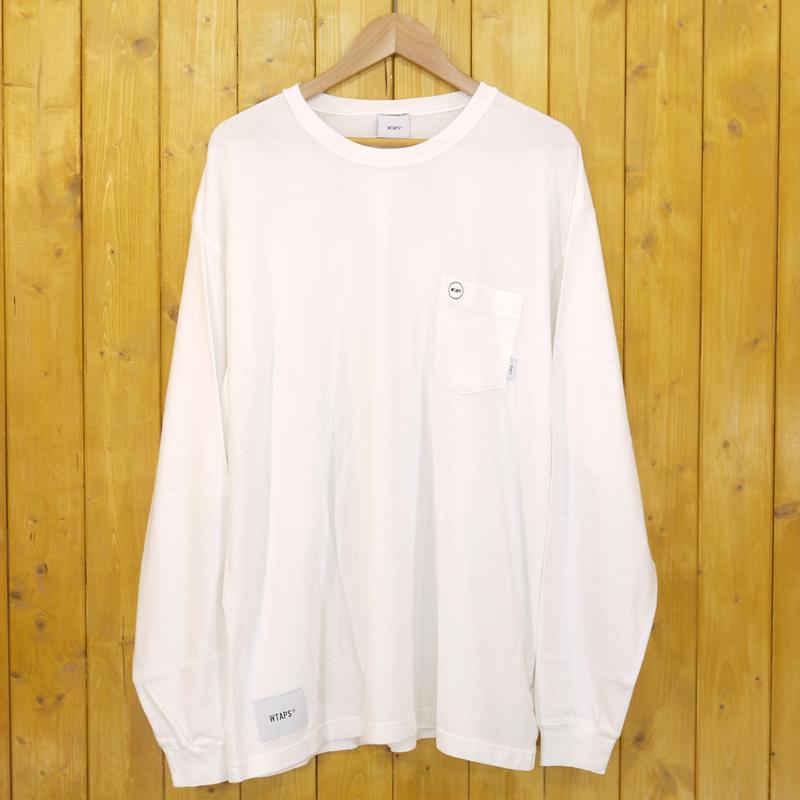 【中古】WTAPS/ダブルタップス BLANK LS 01 / TEE. COTTON 長袖Tシャツ 18AW サイズ:X03 カラー:ホワイト【f103】