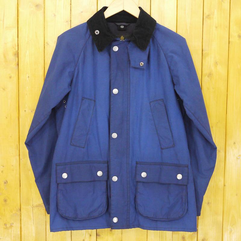 【中古】Barbour×BLUE WORK/バブアー×ブルーワーク BLUE WORK別注 USED加工オイルドコート ジャケット サイズ:34 カラー:ブルー【f094】