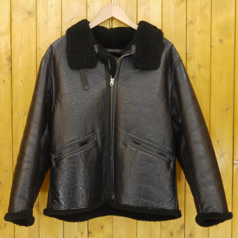 【中古】THE FEW/ザフュー ROUGH WEAR レザージャケット D-1 サイズ:M カラー:ブラック【f093】