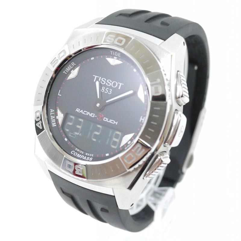 【中古】TISSOT/ティソ 腕時計 RACING TOUCH レーシングタッチ T0025201705100 クォーツ ラバーベルト カラー:ブラック×シルバー【f131】