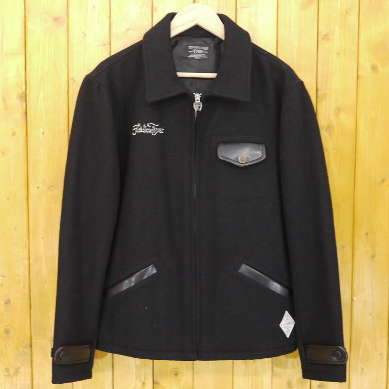 【中古】CRIMIE/クライミー ウール刺繍ジャケット サイズ:L カラー:ブラック【f096】