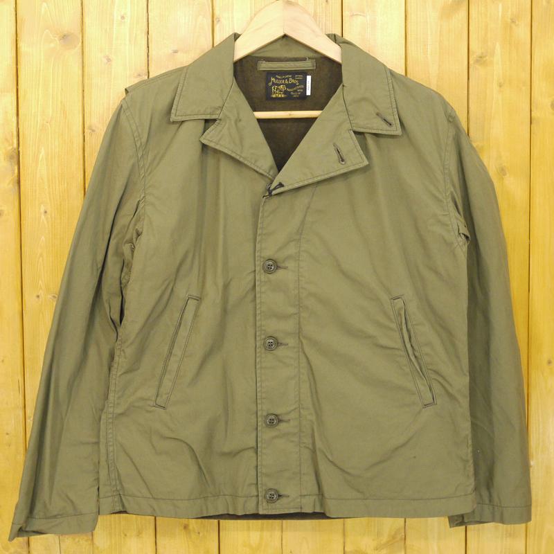 【期間限定】ポイント20倍【中古】MULLER & BROS./ミュラーアンドブロス military jacket ミリタリージャケット サイズ:38 カラー:カーキ【f096】