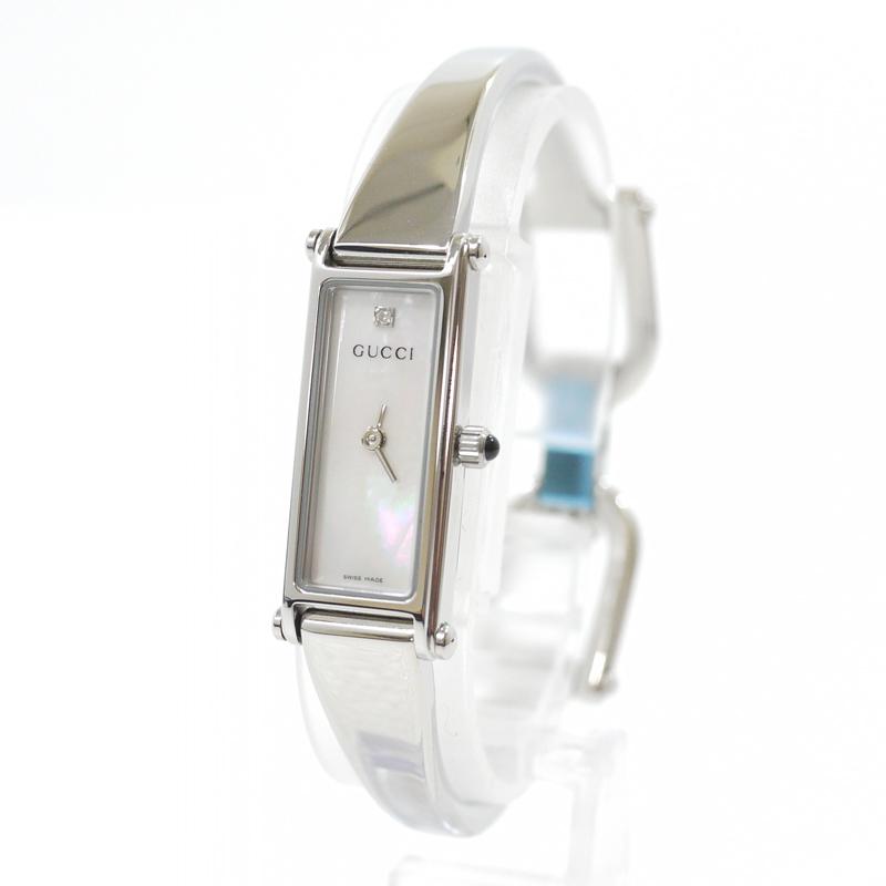 【中古】GUCCI/グッチ 腕時計 バングルウォッチ 1500L クォーツ ステンレススティールベルト カラー:シルバー【f131】