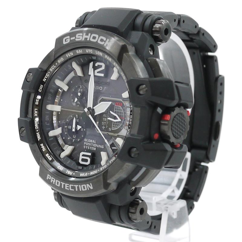 【中古】CASIO/カシオ 腕時計 G-SHOCK/Gショック GRAVITYMASTER グラビティマスター スカイコックピット 電波ソーラー GPW-1000 カラー:ブラック【f131】