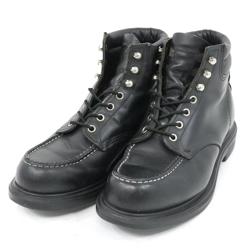 【中古】RED WING/レッドウィング SUPER SOLE MOC-TOE/スーパーソール モックトゥ 8133 ブーツ サイズ:27.5cm カラー:ブラック【f127】