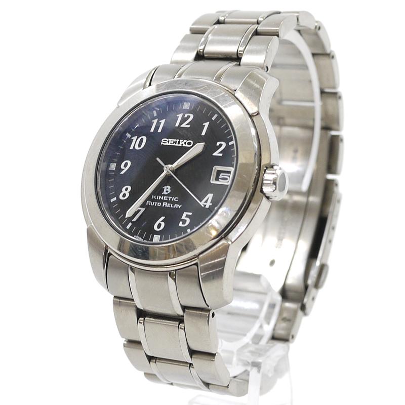 【中古】SEIKO/セイコー 腕時計 KINETIC キネティック オートリレー 5J22-0D40 ブライツ カラー:シルバー【f131】