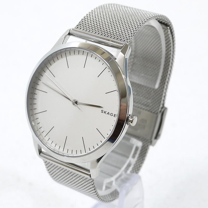 【中古】SKAGEN/スカーゲン ジョーン 腕時計 アナログクォーツ SKW1092 サイズ:- カラー:文字盤:ホワイト ベルト:シルバー【f131】