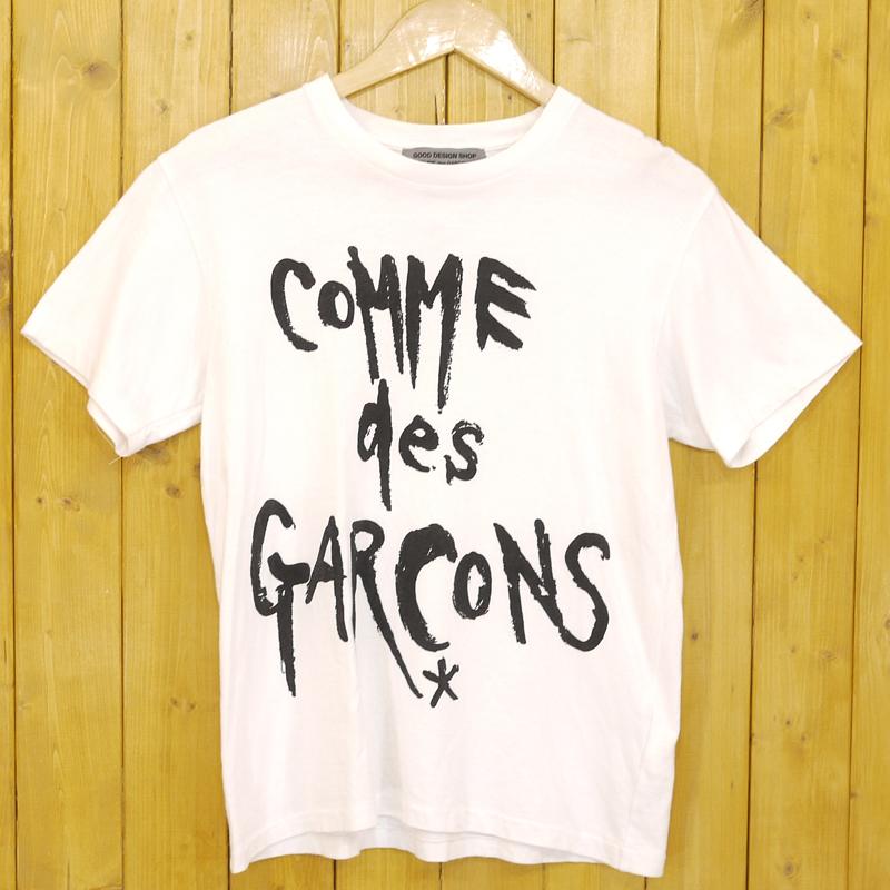 【期間限定】ポイント20倍【中古】COMME des GARCONS/コムデギャルソン GOOD DESIGN SHOP 復刻ロゴTシャツ サイズ:M カラー:ホワイト【f108】