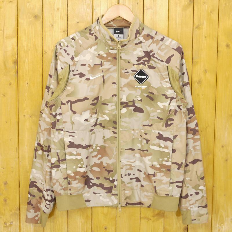 【中古】F.C.R.B./F.C.Real Bristol/エフシーレアルブリストル NIKE Revolution Camo Jacket カモ柄ジャケット サイズ:M カラー:迷彩【f095】