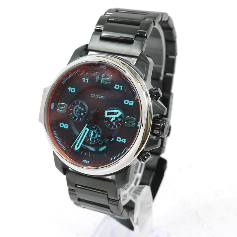 【中古】DIESEL/ディーゼル ウィップラッシュ クロノグラフ 腕時計 アナログクォーツ DZ4434 サイズ:- カラー:文字盤:ブラックベルト:ブラック【f131】