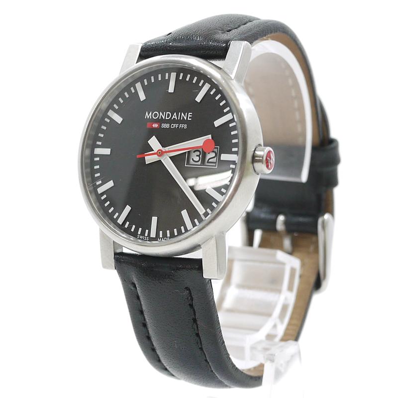 【中古】MONDAINE/モンディーン 腕時計 クオーツ A669.30311.14SBB カラー:ブラック【f131】