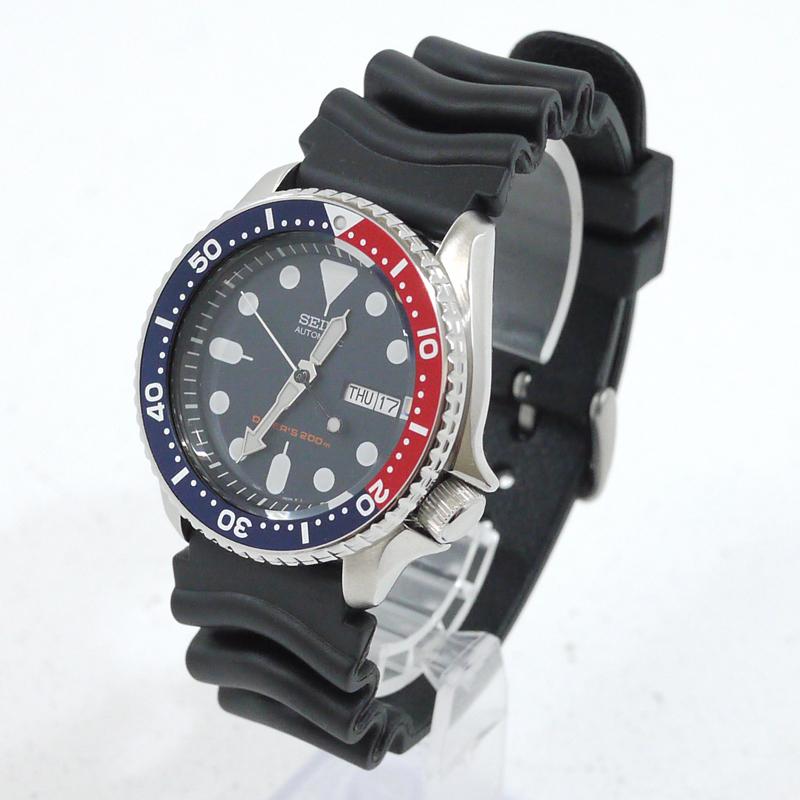 【中古】SEIKO/セイコー ダイバーズ 200m防水 SKX009K1 腕時計 自動巻き 文字盤カラーネイビー サイズ:- カラー:ブラック×ネイビー【f131】