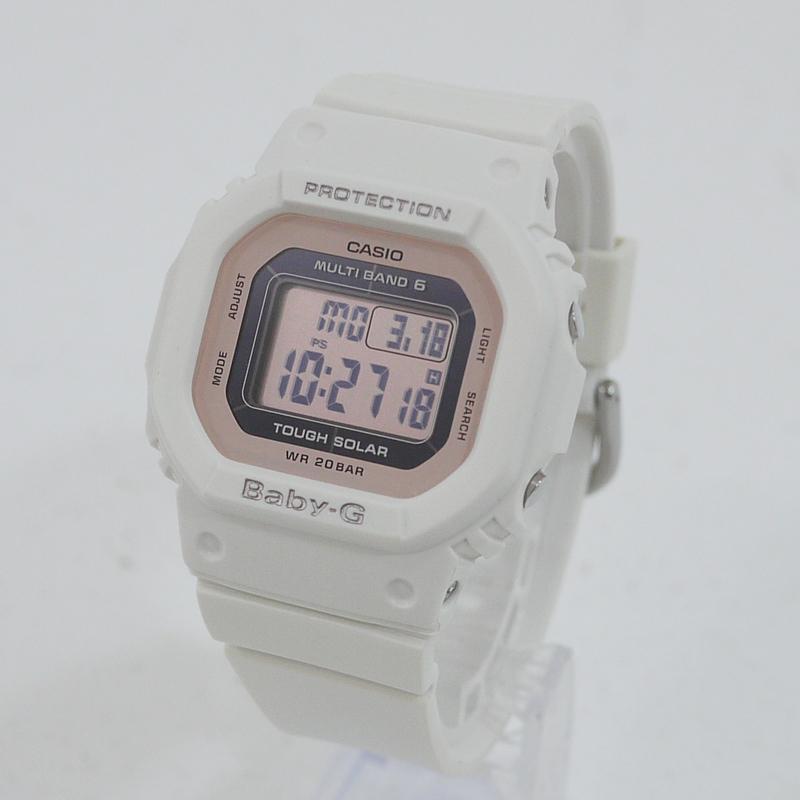 【中古】CASIO/カシオ 腕時計 BABY-G/ベビーG BGD-5000-7DJF ソーラー サイズ:- カラー:ホワイト×ピンク【f131】
