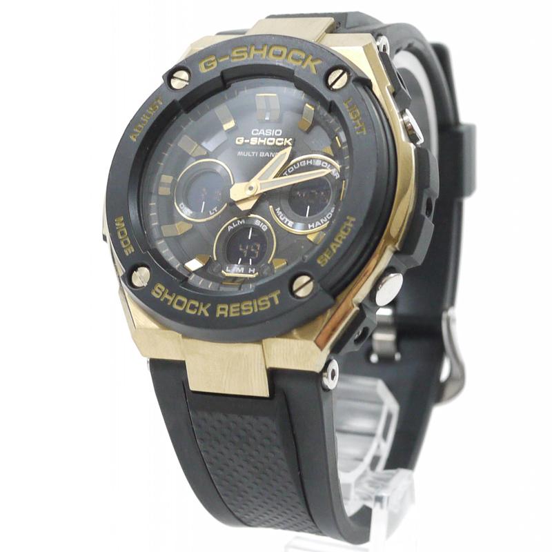 【中古】CASIO/カシオ 腕時計 G-SHOCK/Gショック G-STEEL Gスチール GST-W300G カラー:ブラック【f131】