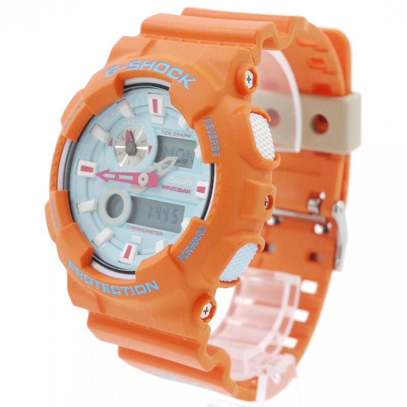 【中古】CASIO×In4mation/カシオ×インフォメーション 腕時計 G-SHOCK G-LIDE Gショック Gライド 2016年コラボレーションモデル GAX-100X-4AJR クォーツ 樹脂バンド サイズ:- カラー:オレンジ【f131】