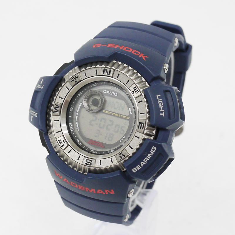 【中古】CASIO/カシオ 腕時計 G-SHOCK/Gショック WADEMAN テリエ・ハーカンセン DW-9800BD クォーツ サイズ:- カラー:ネイビー【f131】