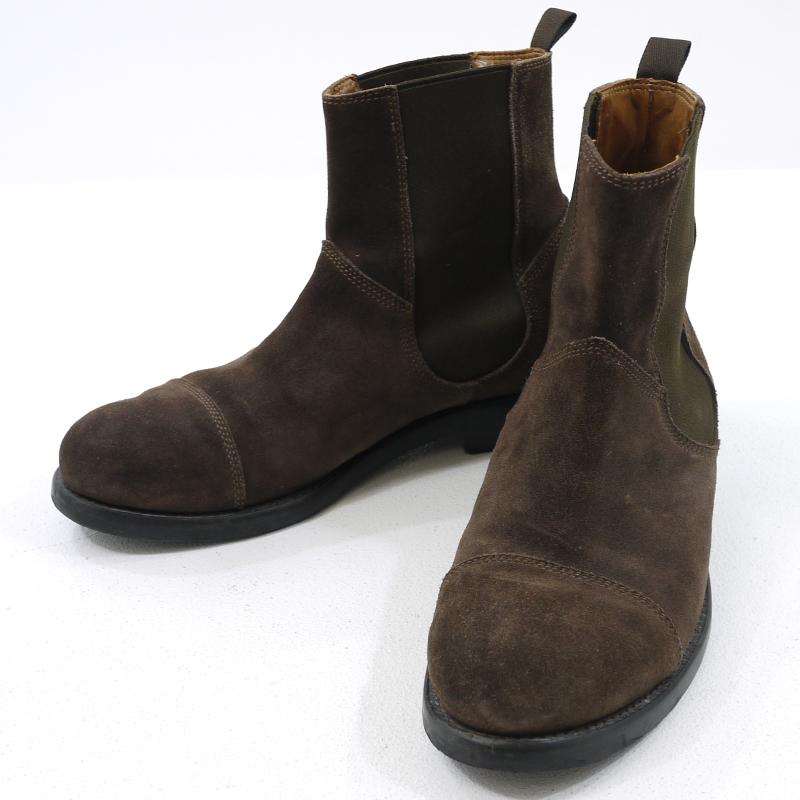 【中古】BUTTERO/ブッテロ サイドゴア ブーツ スウェード B4424 サイズ:42 カラー:ブラウン【f127】