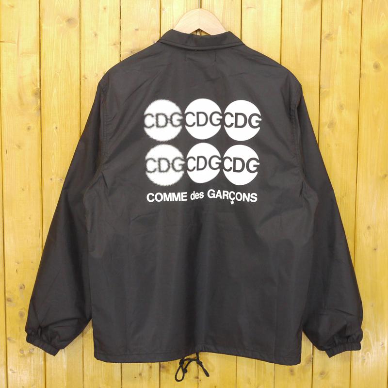 【中古】COMME des GARCONS/コムデギャルソン AD2018 自由を着る。 CDG バックプリントコーチジャケット サイズ:S カラー:ブラック【f108】