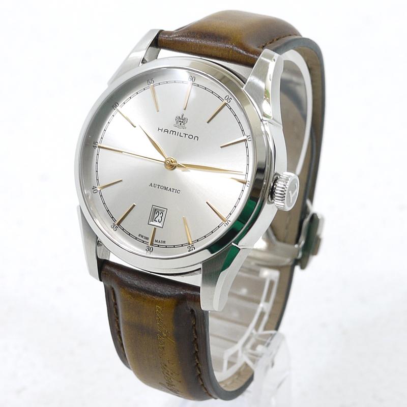 【中古】HAMILTON/ハミルトン ジャズマスター スピリットオブリバティ  腕時計 アナログ自動巻き H424151 サイズ:- カラー:文字盤:シルバーベルト:ブラウン【f131】
