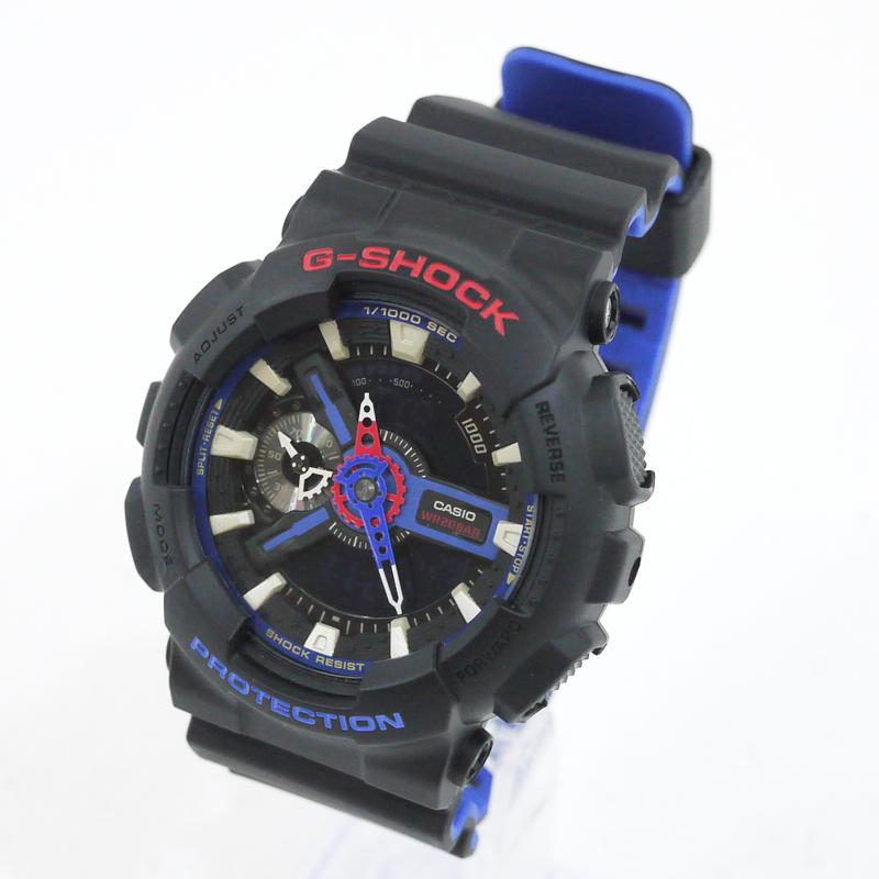 【中古】CASIO/カシオ 腕時計 G-SHOCK/Gショック SPECIAL COLOR GA-110LT-1AJF クォーツ サイズ:- カラー:ブラック×ブルー【f131】
