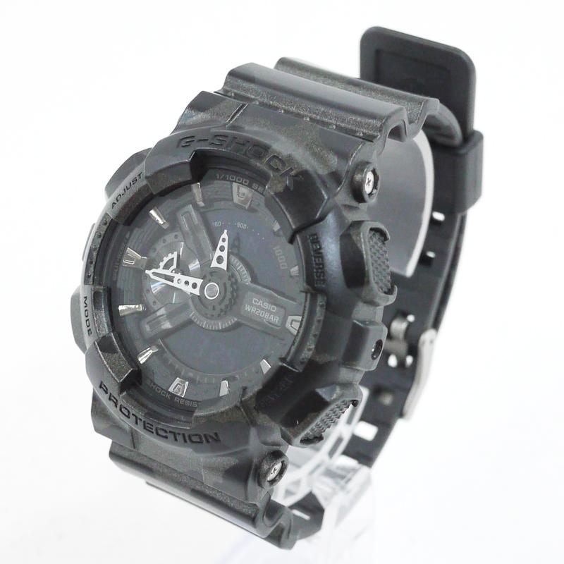 【中古】CASIO/カシオ 腕時計 G-SHOCK/Gショック BIG CASE/ビッグケース カモフラージュ柄 GA-110CM-1AJF クォーツ サイズ:- カラー:ブラック×グレーなど【f131】