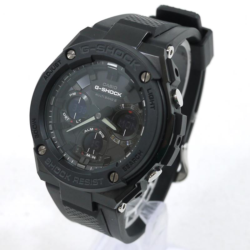 【中古】CASIO/カシオ G-SHOCK G-STEEL 腕時計 アナデジソーラー GST-W100G サイズ:- カラー:文字盤:ブラック ベルト:ブラック【f131】
